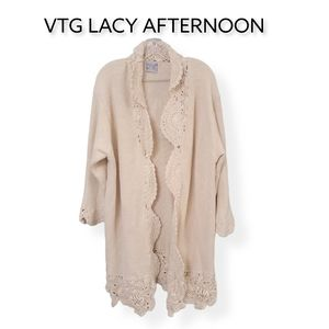 VTG 80S Lacy Afternoon By Shell Kepler Cardigan